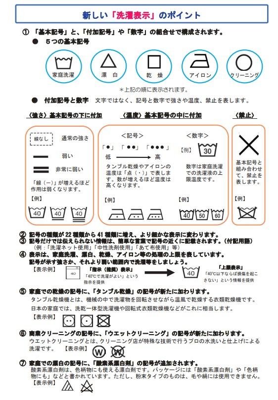新しい洗濯表示 注意点