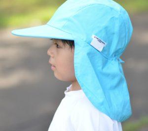 エポカルの赤白帽子 紫外線対策用